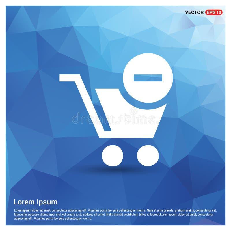 Carrinho de compras e sinal da supressão ilustração stock