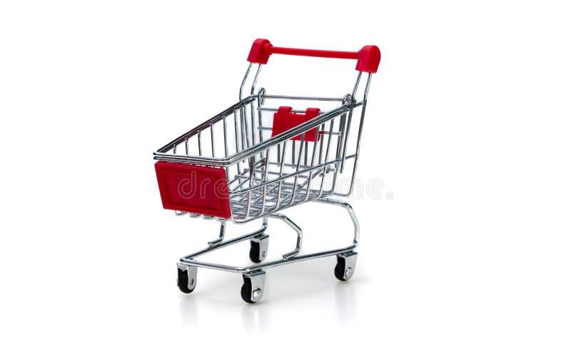 Carrinho de compras no fundo branco foto de stock royalty free