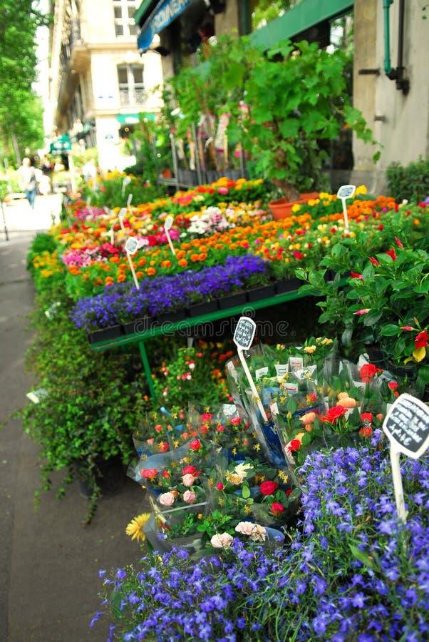 Carrinho de flor em Paris fotografia de stock