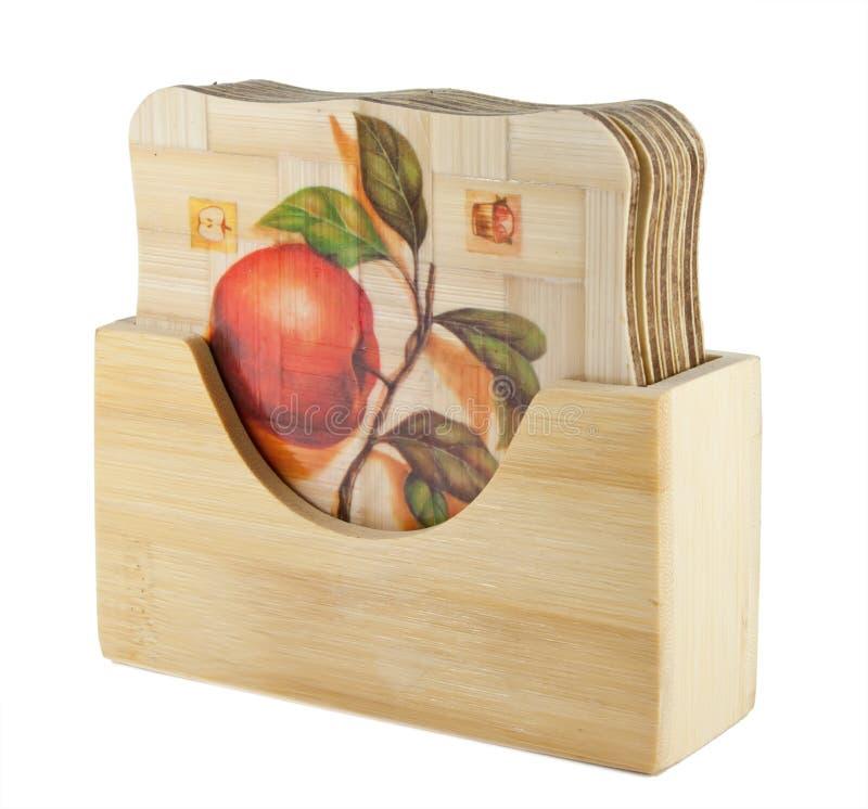 Carrinho de madeira para um teacup imagens de stock royalty free