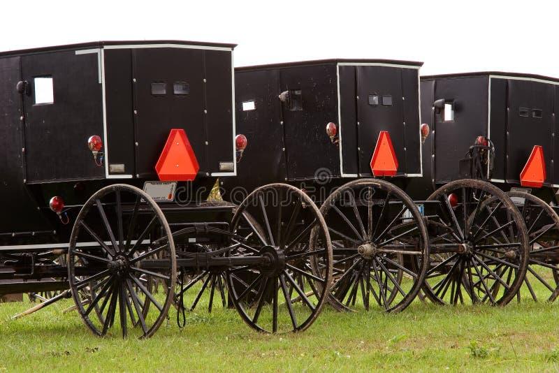 Carrinhos 5 de Amish fotos de stock royalty free