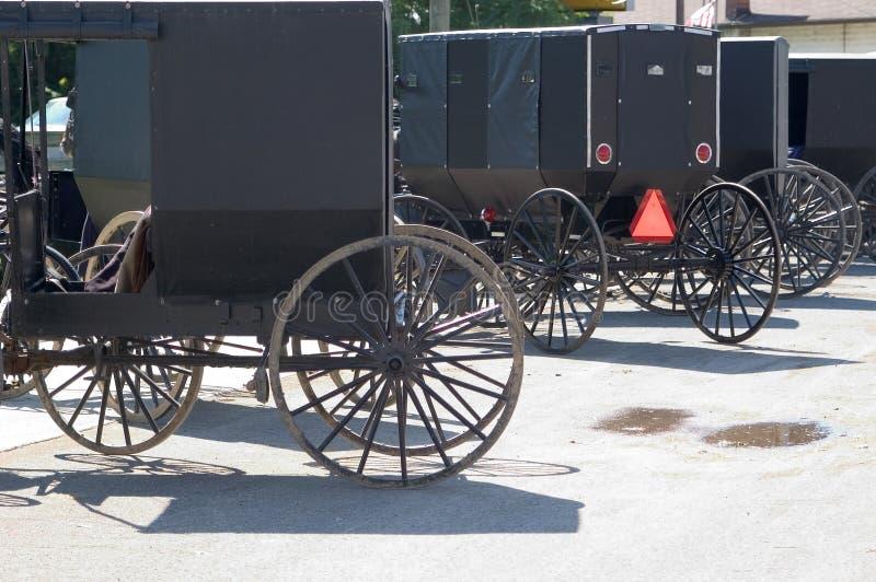 Carrinhos De Amish Foto de Stock