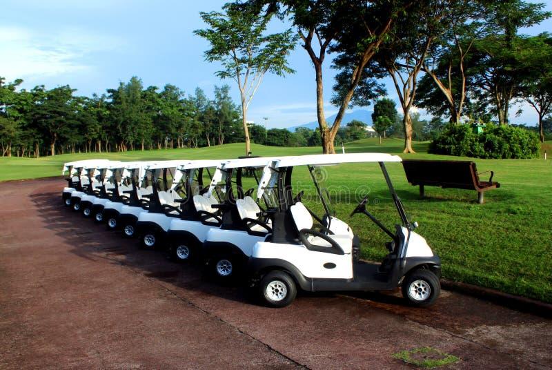 Carrinhos de golfe foto de stock