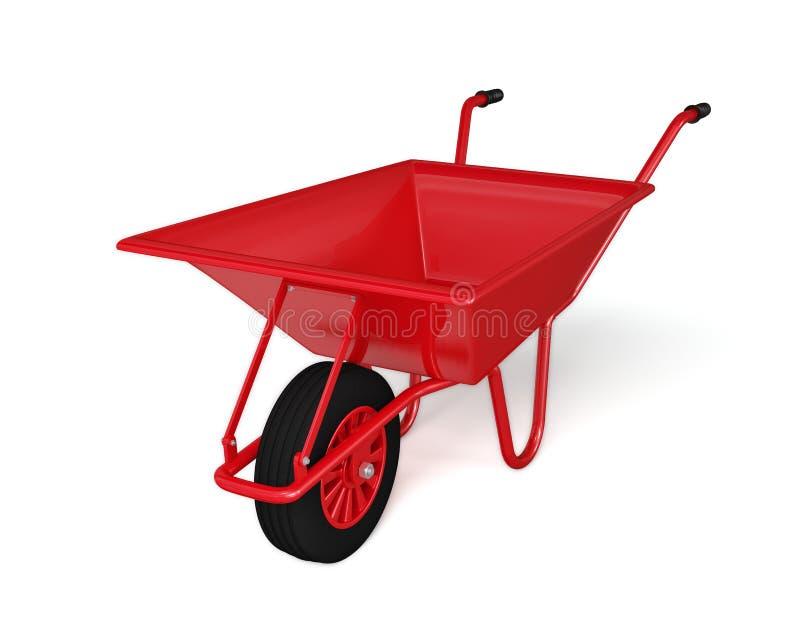Carriola di ruota isolata su bianco fotografia stock