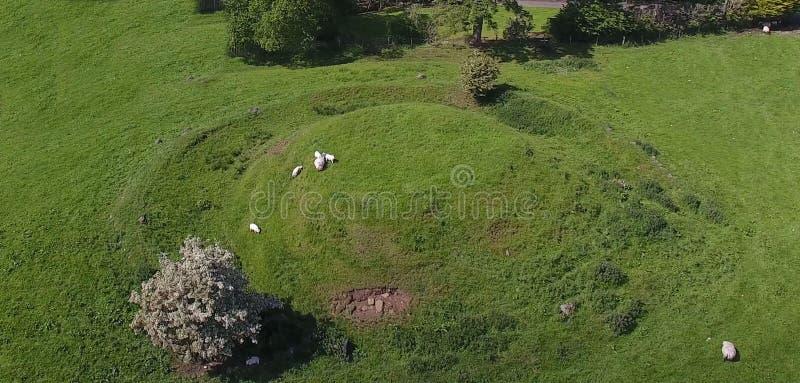 Carriole neolitiche a Kilwaughter Co Antrim Irlanda del Nord immagine stock