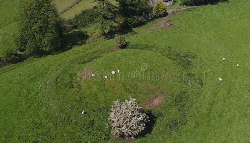 Carriole neolitiche a Kilwaughter Co Antrim Irlanda del Nord immagine stock libera da diritti