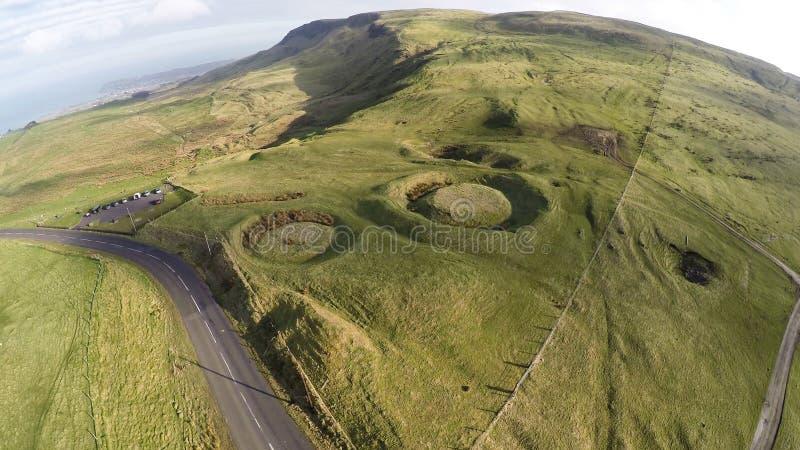 Carriole neolitiche a Kilwaughter Co Antrim Irlanda del Nord immagini stock