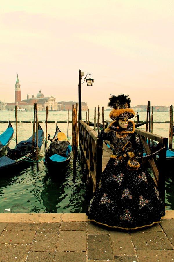 Carrnival κοστούμια και μάσκες της Βενετίας στοκ φωτογραφία