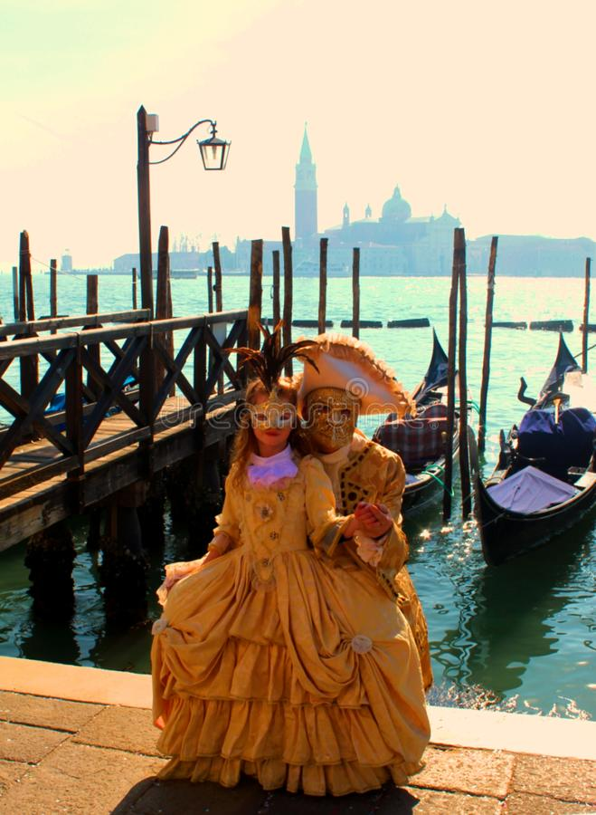 Carrnival κοστούμια και μάσκες της Βενετίας στοκ φωτογραφία με δικαίωμα ελεύθερης χρήσης