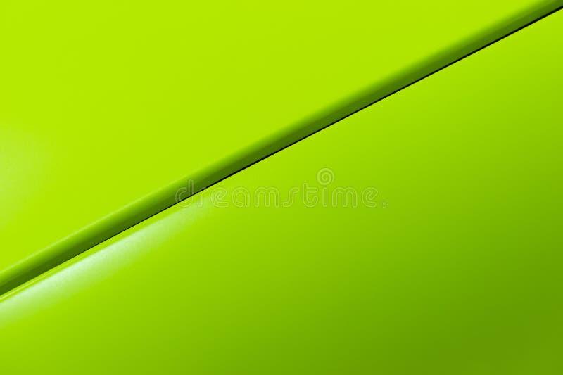 Carroçaria verde do sedan imagem de stock