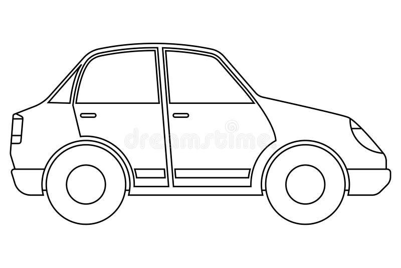 Carro Ícone do esboço ilustração royalty free