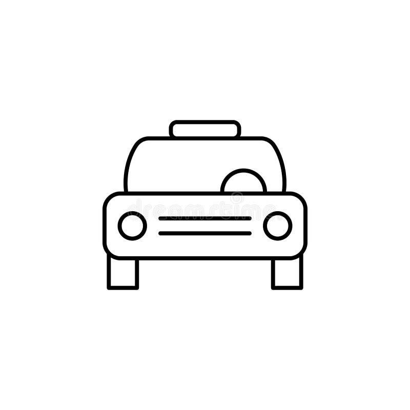 Carro, ícone do esboço do táxi Pode ser usado para a Web, logotipo, app móvel, UI, UX ilustração royalty free