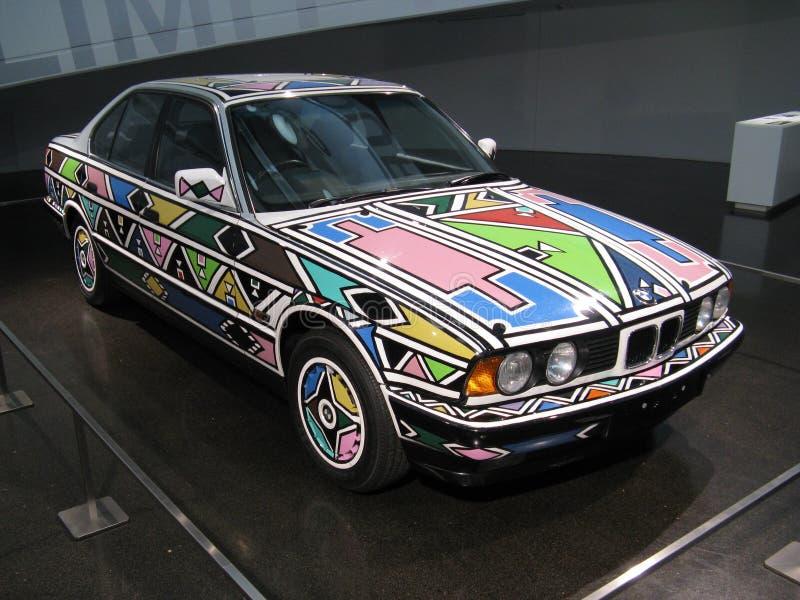 Carro 1991 da arte de BMW fotografia de stock royalty free