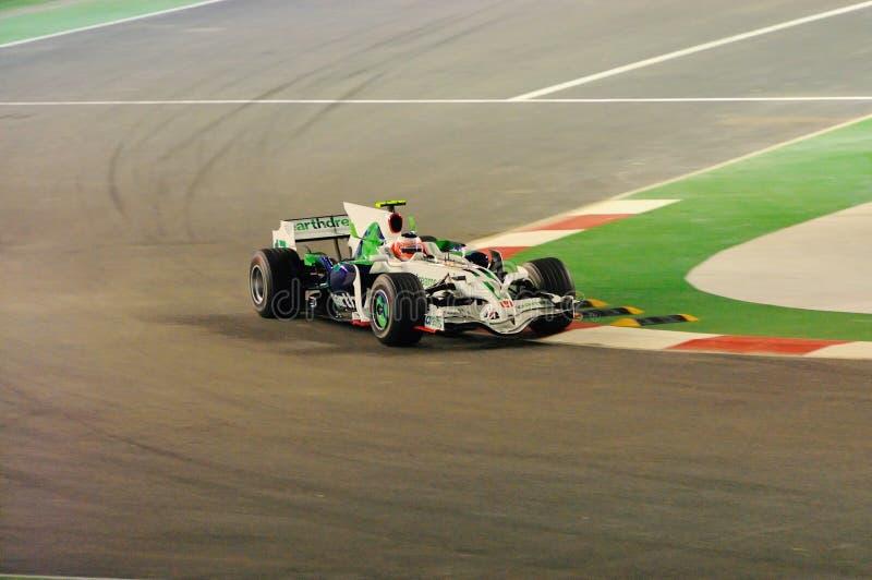 Carro 2008 F1 de Honda de Rubens Barrichello imagens de stock royalty free