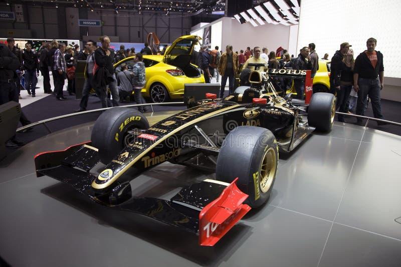 Carro 2011 da fórmula 1 do GP de Renault dos lótus foto de stock royalty free