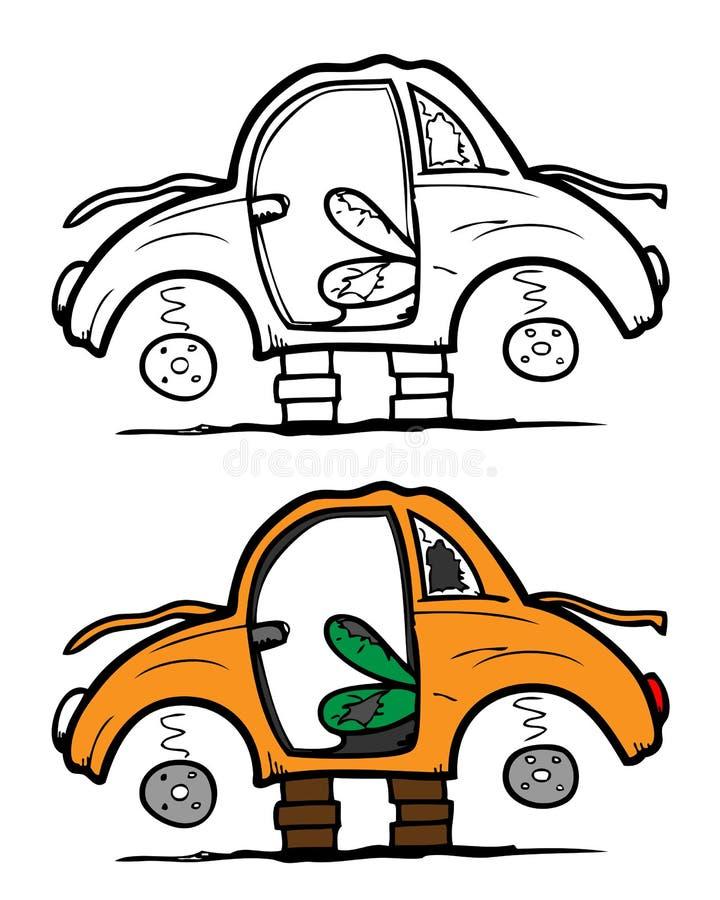 Carro abandonado ilustração do vetor
