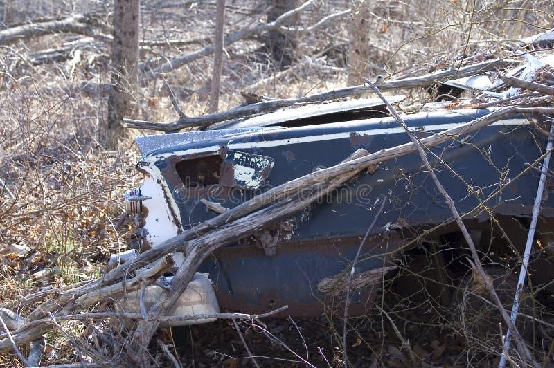 Carro abandonado fotos de stock