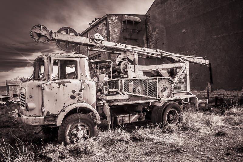 Carro abandonado imagen de archivo