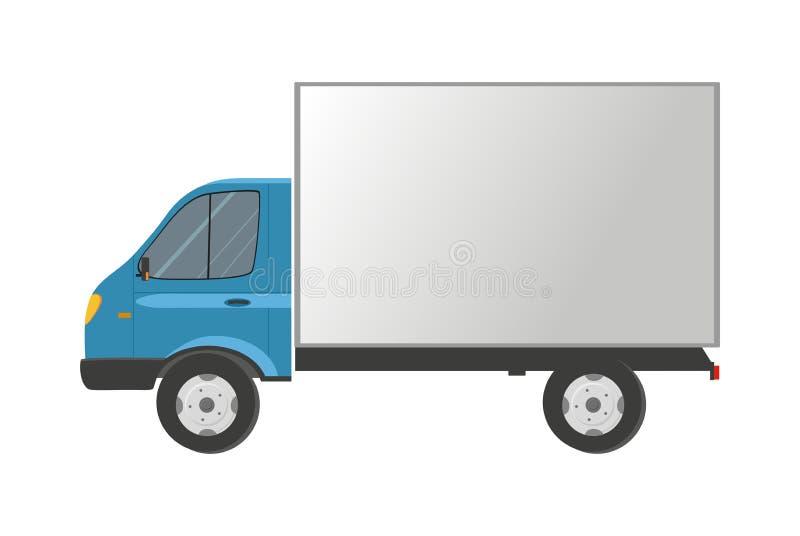 Carro aislado en blanco Entrega del cargo stock de ilustración