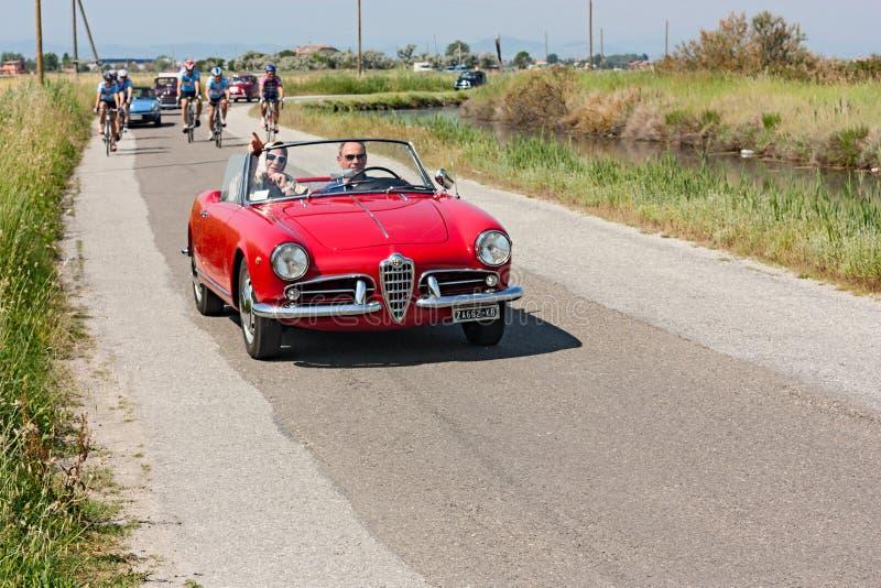 Carro Alfa Romeo do vintage foto de stock