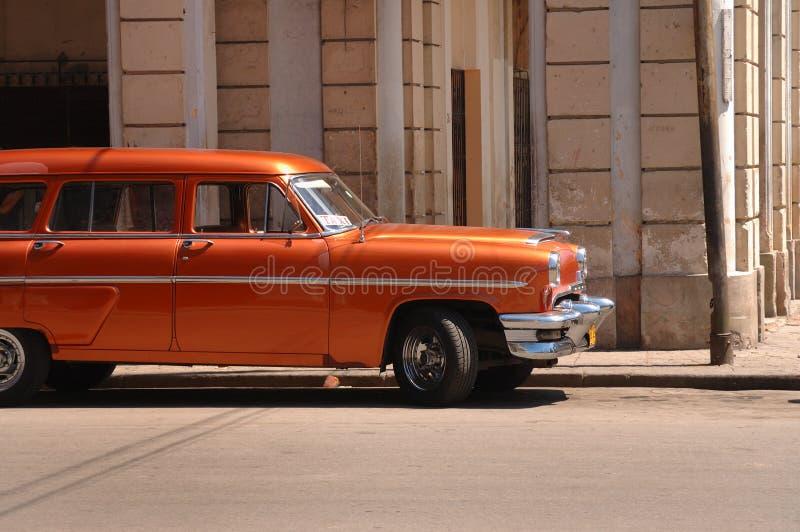 Carro americano clássico em Havana velho fotografia de stock