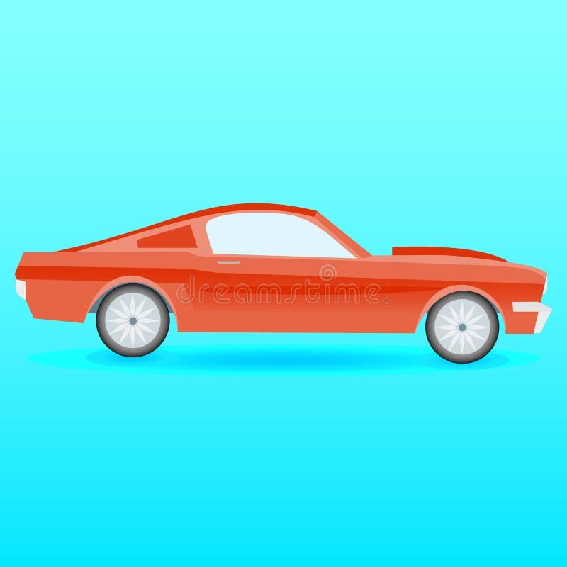 Carro americano do músculo ilustração stock