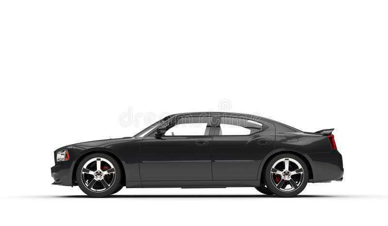 Carro americano preto ilustração stock