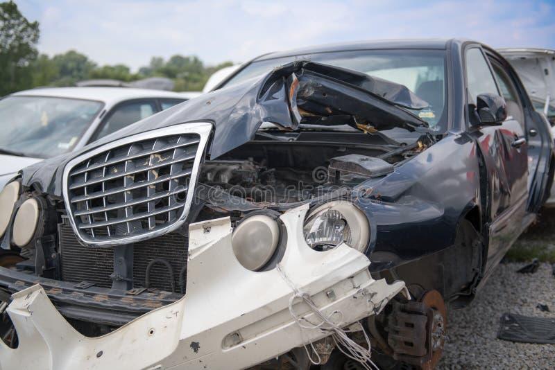 Carro após o acidente foto de stock