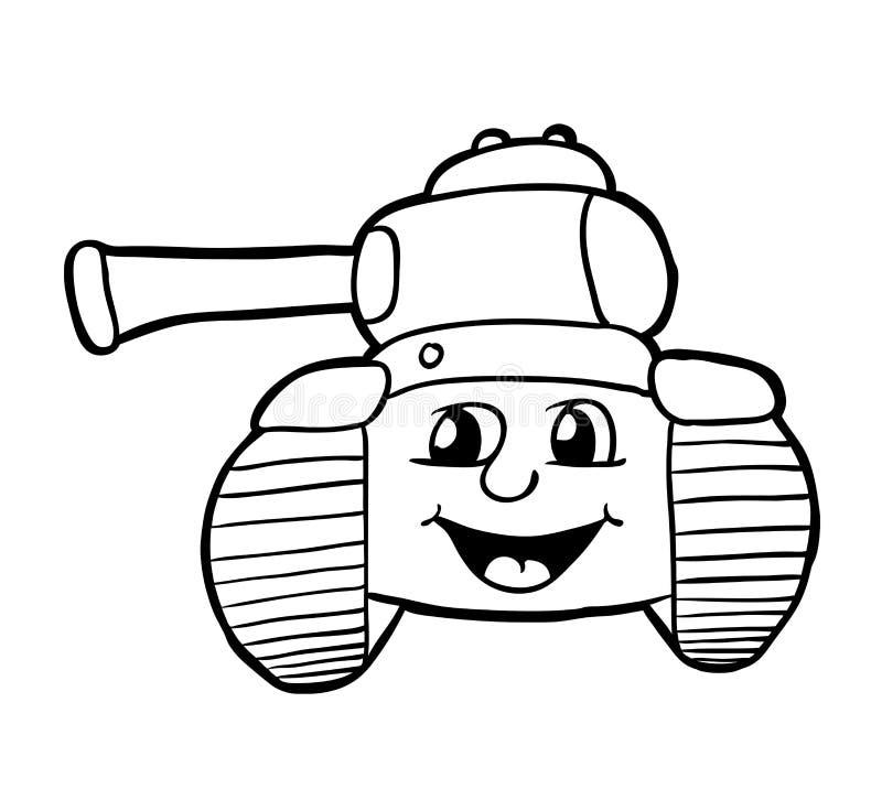 Carro armato con il sorriso royalty illustrazione gratis
