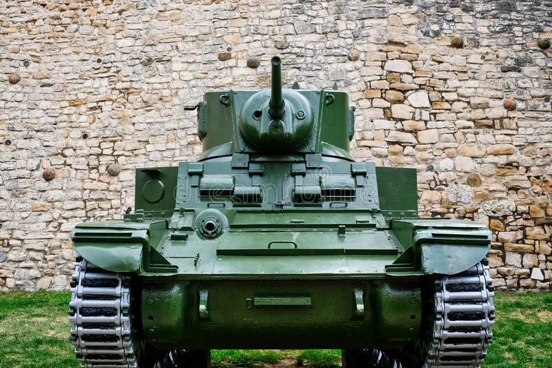 Carro armato corazzato d'annata, museo militare di Belgrado, Serbia immagine stock libera da diritti