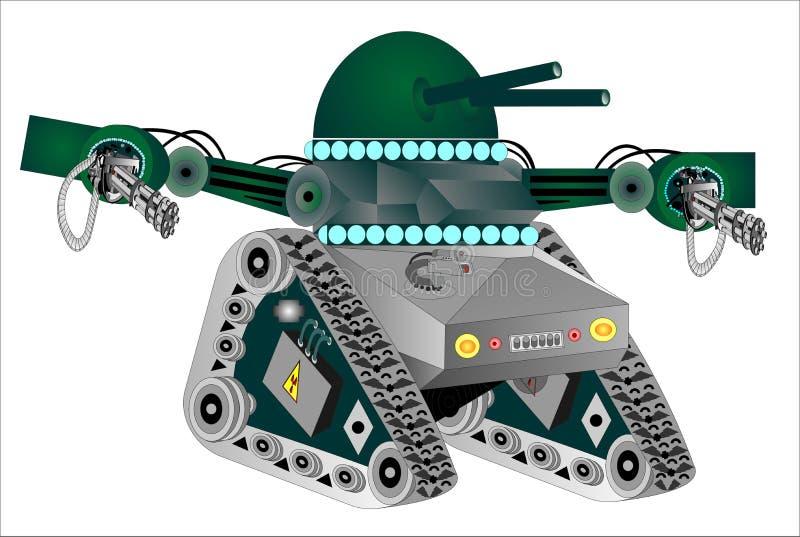 Carro armato del robot illustrazione di stock