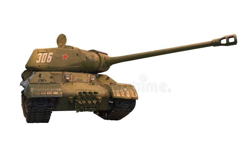 Carro armato di esercito isolato su fondo bianco carro armato di esercito T-34 della seconda guerra mondiale immagine stock