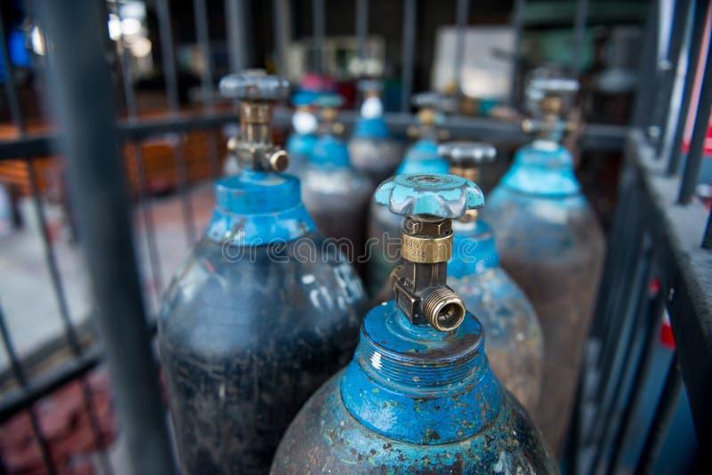 Carro armato di gas dell'azoto fotografie stock libere da diritti