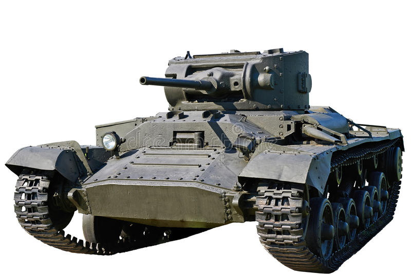 Carro armato Mk della fanteria III biglietto di S. Valentino VI isolato immagini stock