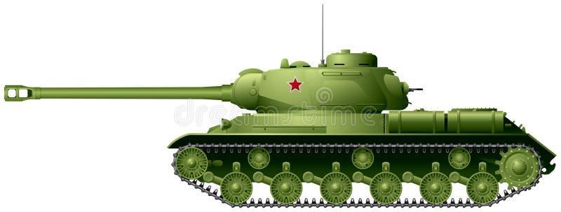 Carro armato, carro armato pesante sovietico IS-2 di WWII illustrazione di stock