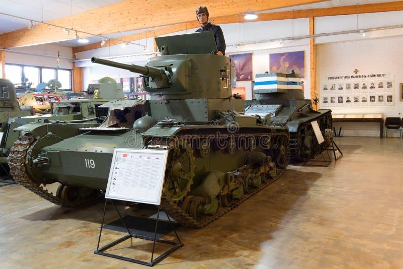 Carro armato sovietico T-26 del modello 1933 nel museo dei veicoli blindati immagini stock