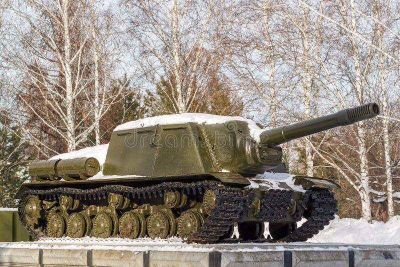 Carro armato sovietico un monumento fotografie stock libere da diritti