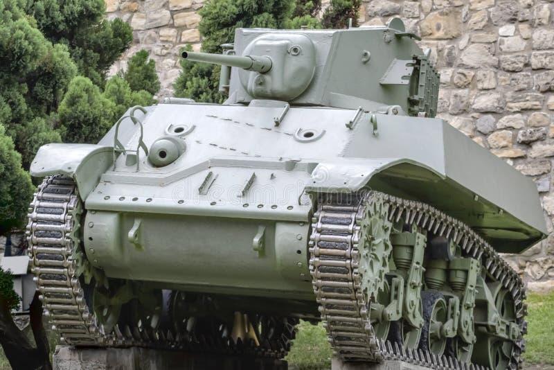Carro armato Stuart M3A1 dell'esercito americano di WWII fotografie stock libere da diritti