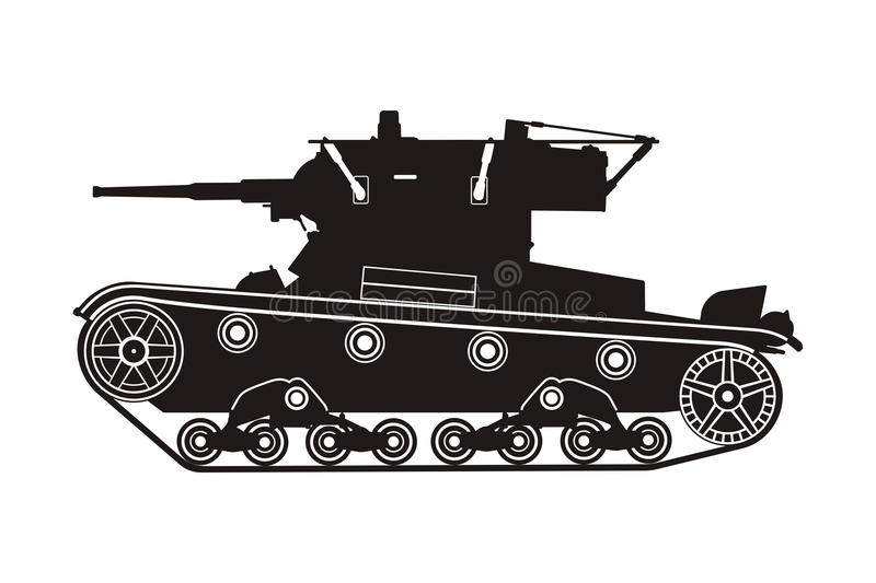 Carro armato T-26 illustrazione di stock