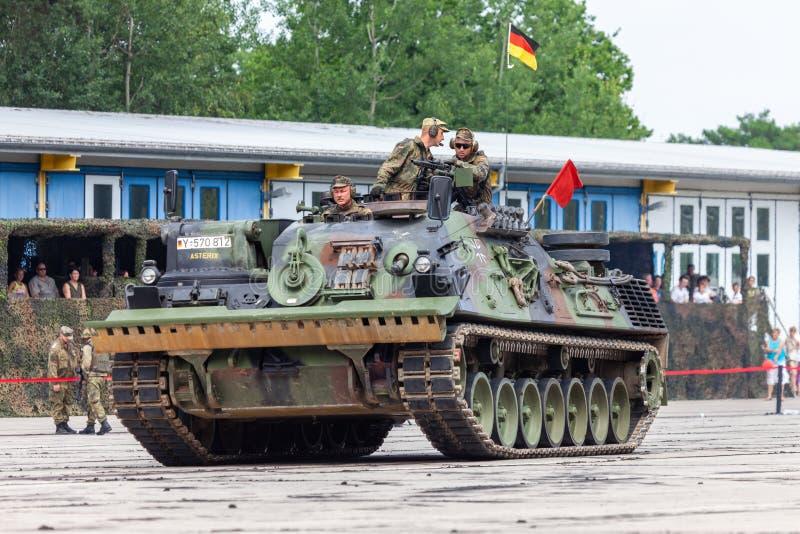 Carro attrezzi corazzato tedesco, Bergepanzer 2 da Bundeswehr fotografie stock libere da diritti
