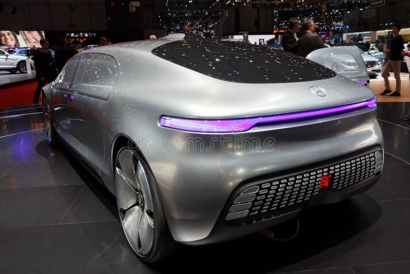 Carro autônomo do conceito de Mercedes Benz imagem de stock