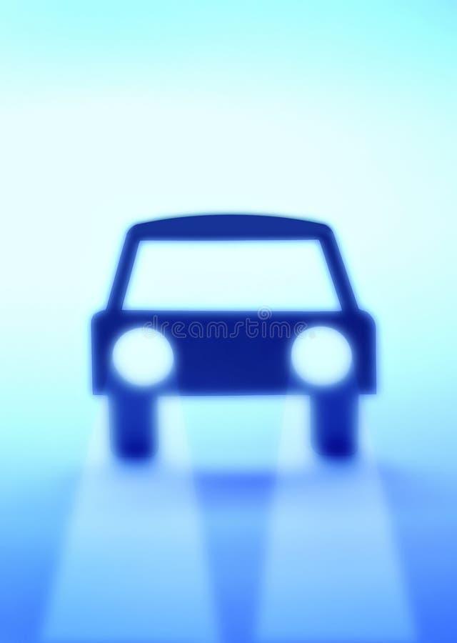 Carro azul ilustração stock