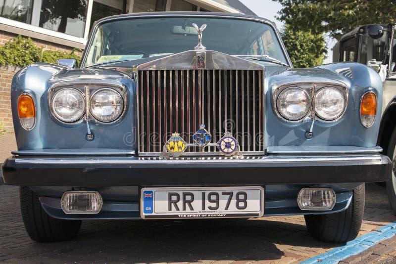 Carro azul de rolls royce foto de stock royalty free
