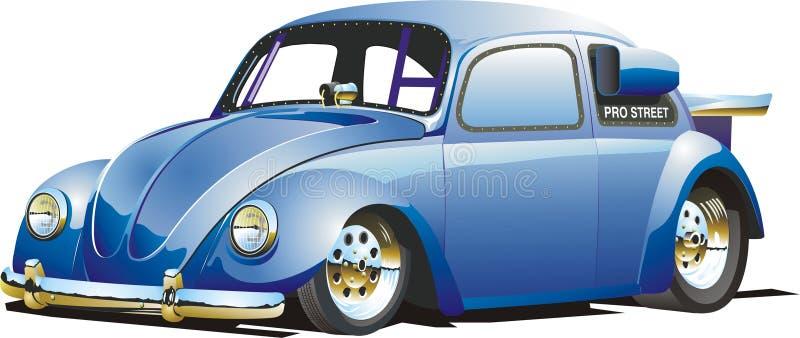 Carro azul do arrasto ilustração do vetor