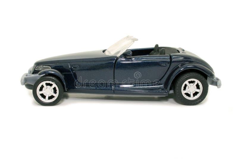 Carro azul do brinquedo (imagem 8.2mp) imagem de stock royalty free