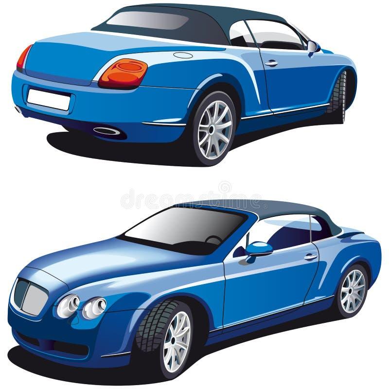 Carro azul luxuoso ilustração royalty free