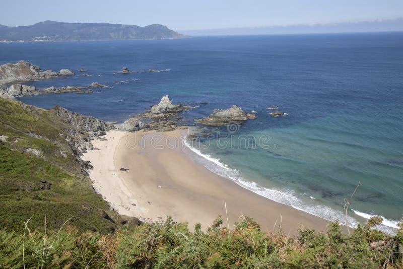 Carro Beach; Espasante; Galicia royalty free stock photography