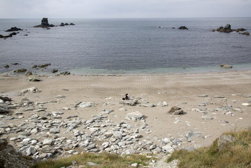 Carro Beach in Galicia royalty free stock photos