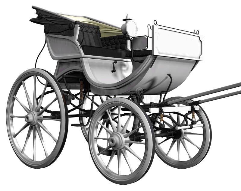 Carro blanco ilustración del vector