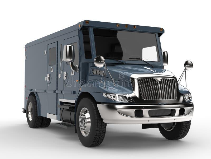 Carro blindado do transporte dos azuis marinhos ilustração royalty free